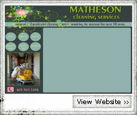 Matheson Cleaning Services NH Web Design