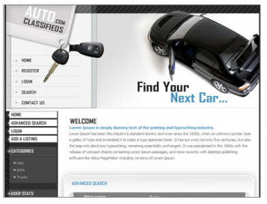 The Auto Classifieds Template Image 1