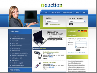 Web 20 templates business website templates web site templates auction site like ebay template image wajeb Images
