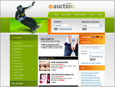Auction Website Like EBAY TEMPLATE CUSTOM WEBSITE DESIGN - Ebay website template